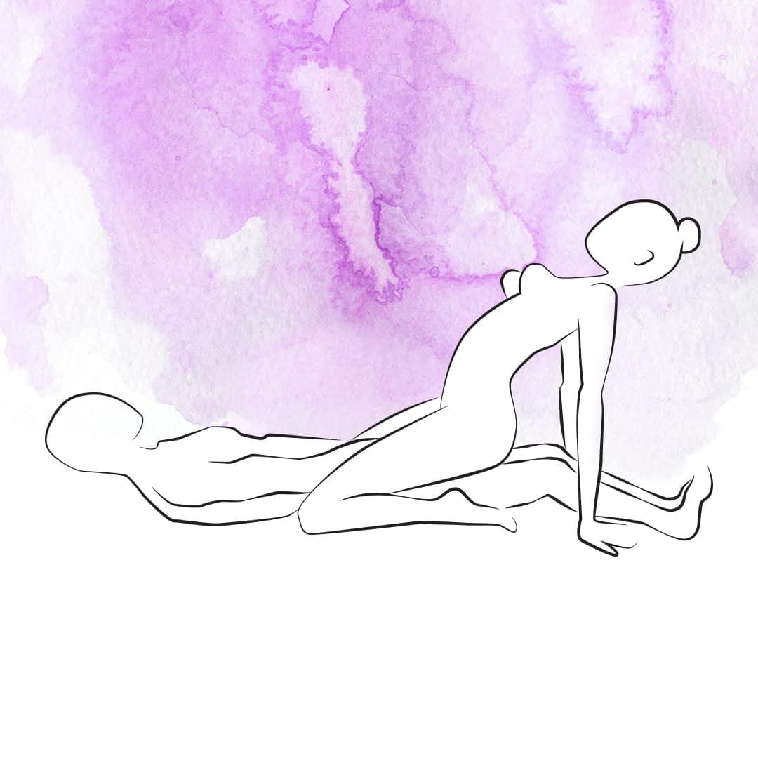 Sexstellung für Schwangere, bei der sie oben ist